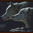 WOLF STARE Cross Stitch Pattern [PDF by email] (canine)