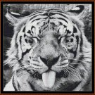 TONGUE Cross Stitch Pattern [PDF by email] {feline tiger}