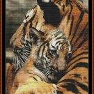MAMA'S HUG - TIGER Cross Stitch Pattern [PDF by email] {cat feline baby}