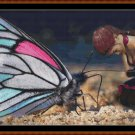 WINGED LANGUAGE Cross Stitch Pattern [PDF by email] {fantasy butterfly}