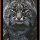 FIERCE CREATURES - BOBCAT Cross Stitch Pattern [PDF by email] (feline cat)