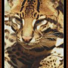 FIERCE CREATURES - OCELOT Cross Stitch Pattern [PDF by email] (feline cat)