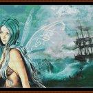 SEA FAIRY Cross Stitch Pattern [PDF by email] (fantasy)