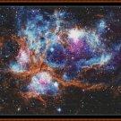 LOBSTER NEBULA Cross Stitch Pattern [PDF by email] (space planet galaxy)