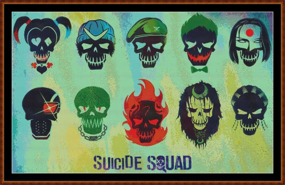SUICIDE SQUAD 3 Cross Stitch Pattern [PDF by email]