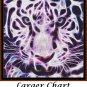FRACTALS - TIGER Cross Stitch Pattern [PDF by email] (cat feline)