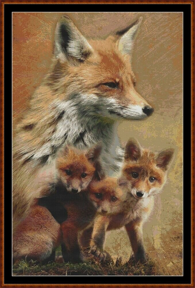 SPIRIT GUIDES - FOX Cross Stitch Pattern [PDF by email]