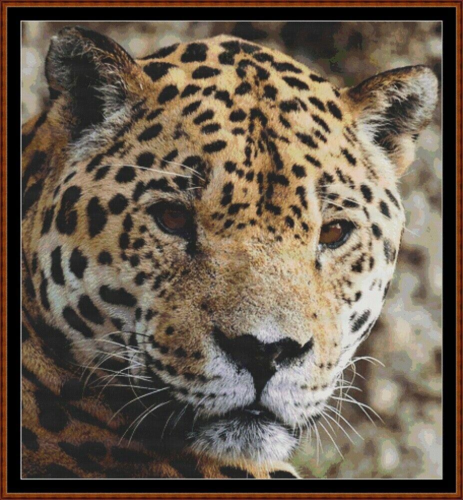 WILD FACES - JAGUAR Cross Stitch Pattern [PDF by email] {cat}