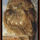 SLEEPY OWL cross stitch pattern PDF email delivery (punto cruz kreuzstich point de croix) (ave