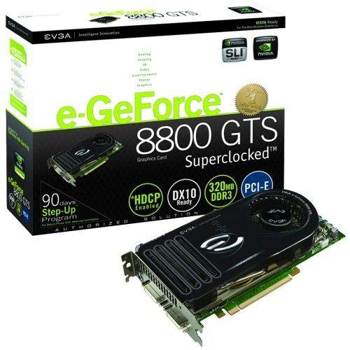 EVGA GeForce nVidia 8800GTS 320MB 320bit GDDR3 PCI Express 2.0 x16 Video Card -- Free Shipping