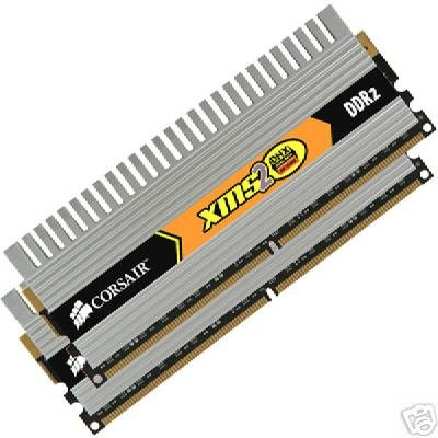 CORSAIR XMS2 4GB 2 x 2GB DDR2 800 PC2-6400 DHX 800MHz Desktop Memory -- Free Shipping
