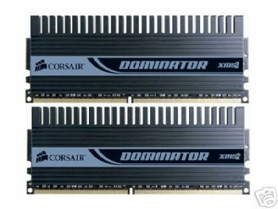 CORSAIR Dominator 2GB 2x 1GB DDR2 1066 PC2-8500 SLI EPP Desktop Memory Kit