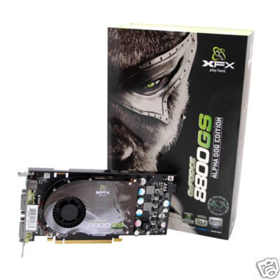 XFX NVIDIA GeForce 8800GS 8800 GS 384MB SLI HDCP Video Card w/ Free Game