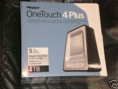 Maxtor 1TB OneTouch 4 Plus 1000GB USB / FireWire External Hard Drive