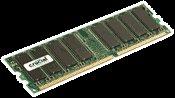 Crucial 1GB PC3200 DDR 400 MHz 184-pin Desktop Memory