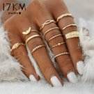 12 pc/set Charm Gold Color Midi Finger Ring Set for Women