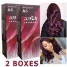2 set x Berina Hair Professional Permanent Hair Dye Color Cream Color no. A 8