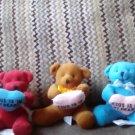 """4"""" Jesus is in my heart bears"""