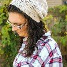 Simple Crochet Slouchy Hat/ Unisex Hat/ Fashion Hat/ Crochet Hat