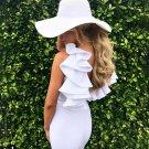 Chic Ruffles Backless Sleeveless Bodycon Dresses