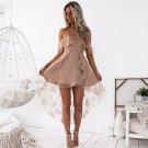 Flouncing Upper Floral Lace Party Dress