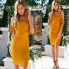 Flounce Backless Off The Shoulder Party Dresses