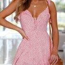 Seductive Floral Backless Low-cut Short Dresses