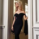 Boutique Boat Neck Tie-Wrap Homecoming Dress