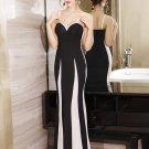 Sexy Contrast Color Sleeveless Evening Dress