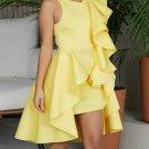 Crew Beck Ruffled Detail Sleeveless Party Dress