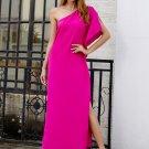One Shoulder Loose Split Hem Maxi Dress