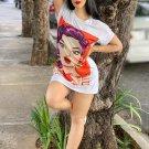 Printing Short Sleeve T-shirt Dress