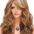 Inclined Bang Colormix Long Wave Synthetic Wig
