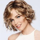 Inclined Bang Curl Synthetic Wig For Women