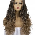 Gradient Color Nature Wave Middle Bang Long Synthetic Wigs