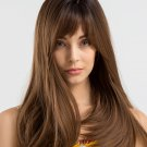 Easy Matching Straight Neat Bang Women Synthetic Wigs