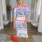 Letter Printed Casual Short Sleeve Dress