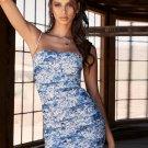 Floral Printed Spaghetti Strap Bodycon Dress