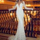 Deep v Backless Lace Long Formal Dresses