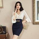 Ol Style Flare Sleeve Short Sleeve Bodycon Dress
