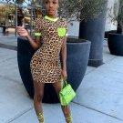 Pocket Leopard Printed Short Sleeve Dress