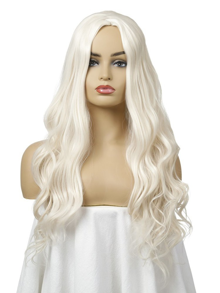 Middle Bang Long Curly Cheap Synthetic Wigs