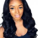African Middle Bang Wave Long Synthetic Wigs For Women