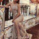 Elegant Beading Decor Sleeveless Formal Gown