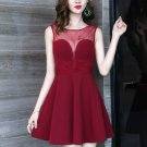 Sleeveless Perspective Backless Party Dress