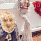 Lace Backless Fishtail Evening Maxi Dresses
