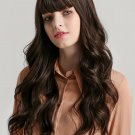 Neat Bang Long Wavy High Quality Synthetic Wigs