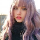 Purple High Temperature Silk Long Curly Synthetic Hair Wig For Cosplay