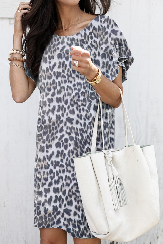 Pile Of Sleeves Leopard Dress