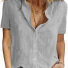Gray Textured Short Sleeve Top